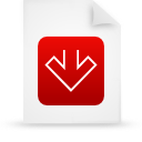 file document paper red g11554 Png Icon