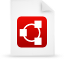 file document paper red g11834 Png Icon