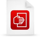 file document paper red g12107 Png Icon