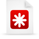 file document paper red g12443 Png Icon