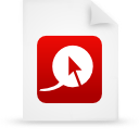 file document paper red g13203 Png Icon