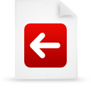 file document paper red g13259 Png Icon