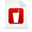 file document paper red g13353 Png Icon
