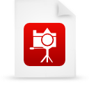 file document paper red g13426 Png Icon