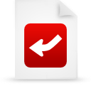 file document paper red g13448 Png Icon
