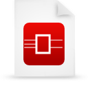 file document paper red g13468 Png Icon