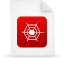 file document paper red g13494 Png Icon