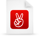 file document paper red g13564 Png Icon
