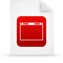 file document paper red g13989 Png Icon