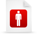 file document paper red g14136 Png Icon