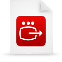 file document paper red g14246 Png Icon