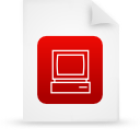 file document paper red g14302 Png Icon