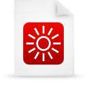 file document paper red g14326 Png Icon