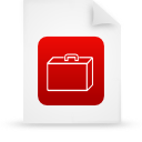 file document paper red g14339 Png Icon