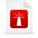 file document paper red g14362 Png Icon