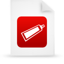 file document paper red g14375 Png Icon