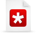 file document paper red g14572 Png Icon