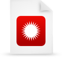 file document paper red g14628 Png Icon