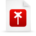file document paper red g14822 Png Icon