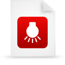 file document paper red g14895 Png Icon