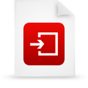 file document paper red g14959 Png Icon