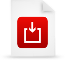 file document paper red g14973 Png Icon