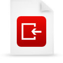 file document paper red g14987 Png Icon