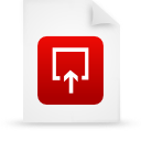 file document paper red g15001 Png Icon