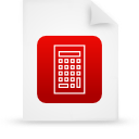 file document paper red g15112 Png Icon