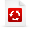 file document paper red g15138 Png Icon