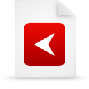 file document paper red g15291 Png Icon