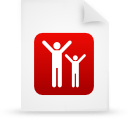 file document paper red g16091 Png Icon