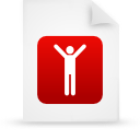 file document paper red g16109 Png Icon