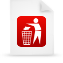 file document paper red g19130 Png Icon