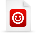 file document paper red g21229 Png Icon