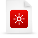 file document paper red g37836 Png Icon