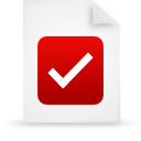 file document paper red g38055 Png Icon