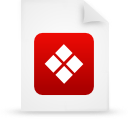 file document paper red g38359 Png Icon