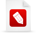 file document paper red g38802 Png Icon