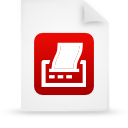 file document paper red g9482 Png Icon