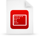 file document paper red g9539 Png Icon