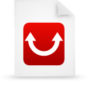 file document paper red g9746 Png Icon
