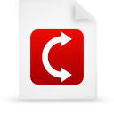 file document paper red g9908 Png Icon