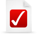 file document paper red g9959 Png Icon