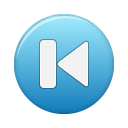button blue first Png Icon