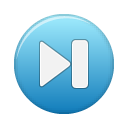 button blue last Png Icon