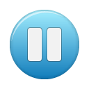 button blue pause Png Icon