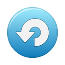 button blue repeat Png Icon