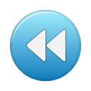 button blue rew Png Icon