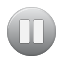 button grey pause Png Icon